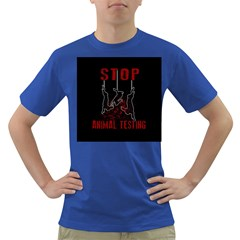 Stop Animal Testing   Rabbits  Dark T Shirt