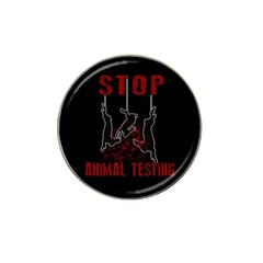 Stop Animal Testing   Rabbits  Hat Clip Ball Marker (4 Pack)