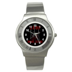 Stop Animal Testing   Rabbits  Stainless Steel Watch