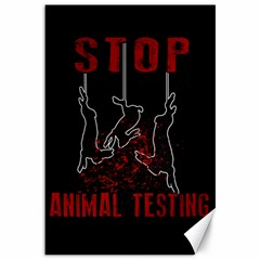 Stop Animal Testing   Rabbits  Canvas 12  X 18