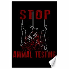 Stop Animal Testing   Rabbits  Canvas 20  X 30