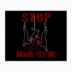 Stop Animal Testing   Rabbits  Small Glasses Cloth (2 Side)