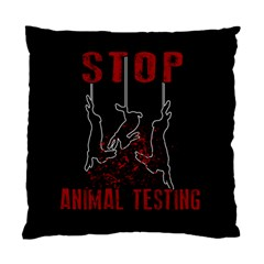 Stop Animal Testing   Rabbits  Standard Cushion Case (one Side)