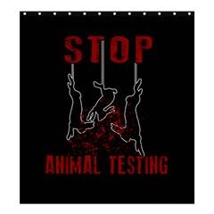 Stop Animal Testing   Rabbits  Shower Curtain 66  X 72  (large)