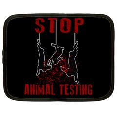 Stop Animal Testing   Rabbits  Netbook Case (xl)