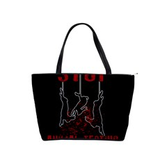 Stop Animal Testing   Rabbits  Shoulder Handbags