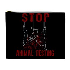 Stop Animal Testing   Rabbits  Cosmetic Bag (xl)