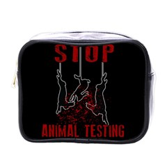 Stop Animal Testing   Rabbits  Mini Toiletries Bags