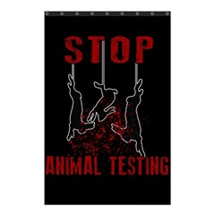 Stop Animal Testing   Rabbits  Shower Curtain 48  X 72  (small)
