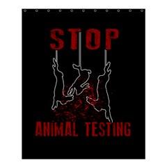 Stop Animal Testing   Rabbits  Shower Curtain 60  X 72  (medium)