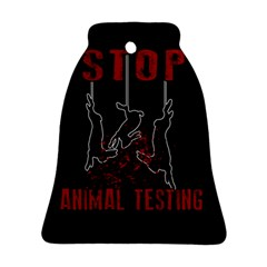 Stop Animal Testing   Rabbits  Bell Ornament (two Sides)