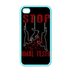 Stop Animal Testing   Rabbits  Apple Iphone 4 Case (color)