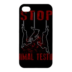 Stop Animal Testing   Rabbits  Apple Iphone 4/4s Hardshell Case