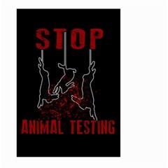 Stop Animal Testing   Rabbits  Large Garden Flag (two Sides)