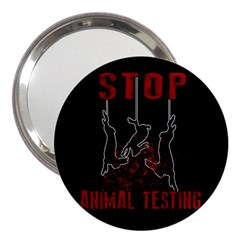 Stop Animal Testing   Rabbits  3  Handbag Mirrors