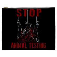 Stop Animal Testing   Rabbits  Cosmetic Bag (xxxl)