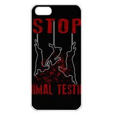 Stop Animal Testing   Rabbits  Apple Iphone 5 Seamless Case (white)