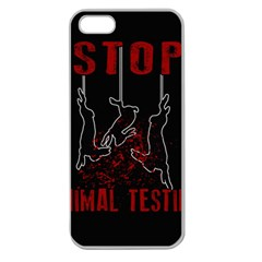 Stop Animal Testing   Rabbits  Apple Seamless Iphone 5 Case (clear)