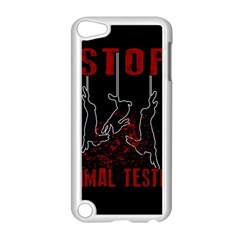 Stop Animal Testing   Rabbits  Apple Ipod Touch 5 Case (white)