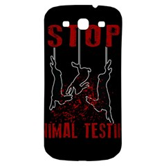 Stop Animal Testing   Rabbits  Samsung Galaxy S3 S Iii Classic Hardshell Back Case