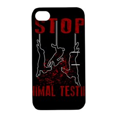 Stop Animal Testing   Rabbits  Apple Iphone 4/4s Hardshell Case With Stand