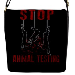 Stop Animal Testing   Rabbits  Flap Messenger Bag (s)