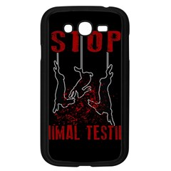 Stop Animal Testing   Rabbits  Samsung Galaxy Grand Duos I9082 Case (black)
