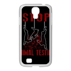 Stop Animal Testing   Rabbits  Samsung Galaxy S4 I9500/ I9505 Case (white)