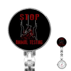 Stop Animal Testing   Rabbits  Stainless Steel Nurses Watch