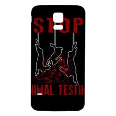 Stop Animal Testing   Rabbits  Samsung Galaxy S5 Back Case (white)