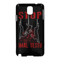 Stop Animal Testing   Rabbits  Samsung Galaxy Note 3 Neo Hardshell Case (black)