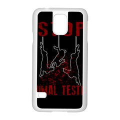 Stop Animal Testing   Rabbits  Samsung Galaxy S5 Case (white)
