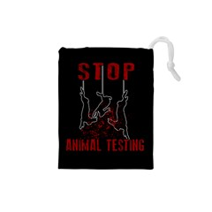 Stop Animal Testing   Rabbits  Drawstring Pouches (small)