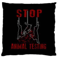 Stop Animal Testing   Rabbits  Standard Flano Cushion Case (one Side)