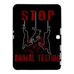 Stop Animal Testing   Rabbits  Samsung Galaxy Tab 4 (10 1 ) Hardshell Case