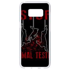 Stop Animal Testing   Rabbits  Samsung Galaxy S8 White Seamless Case