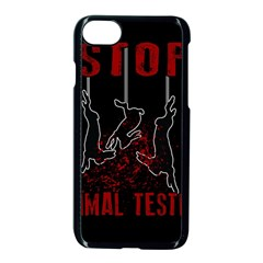 Stop Animal Testing   Rabbits  Apple Iphone 8 Seamless Case (black)