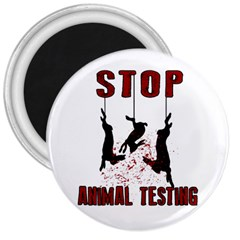 Stop Animal Testing   Rabbits  3  Magnets