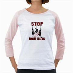 Stop Animal Testing   Rabbits  Girly Raglans