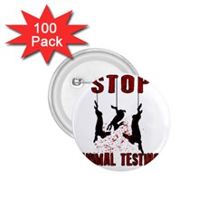 Stop Animal Testing   Rabbits  1 75  Buttons (100 Pack)