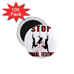 Stop Animal Testing   Rabbits  1 75  Magnets (100 Pack)
