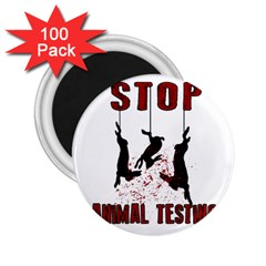 Stop Animal Testing   Rabbits  2 25  Magnets (100 Pack)