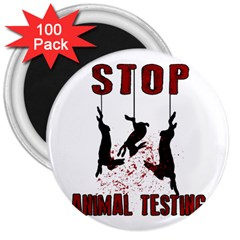 Stop Animal Testing   Rabbits  3  Magnets (100 Pack)