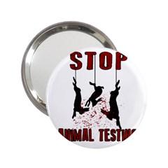 Stop Animal Testing   Rabbits  2 25  Handbag Mirrors
