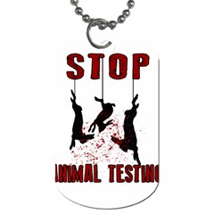 Stop Animal Testing   Rabbits  Dog Tag (one Side)