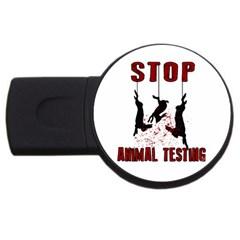 Stop Animal Testing   Rabbits  Usb Flash Drive Round (2 Gb)