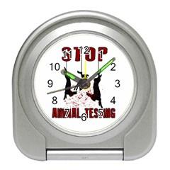 Stop Animal Testing   Rabbits  Travel Alarm Clocks