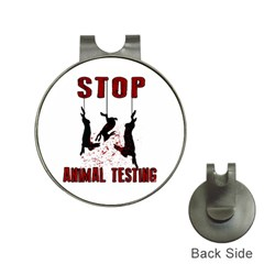 Stop Animal Testing   Rabbits  Hat Clips With Golf Markers
