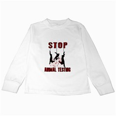 Stop Animal Testing   Rabbits  Kids Long Sleeve T Shirts