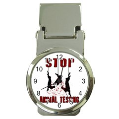 Stop Animal Testing   Rabbits  Money Clip Watches